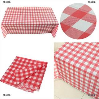 Khăn trải bàn bằng nhựa họa tiết sọc ca rô dùng một lần tiện lợi thumbnail