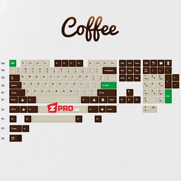 Bộ Keycap Coffee 129 phím