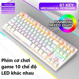 Bàn phím cơ gaming có LED cho máy tính laptop pc Crack K2 PRO dòng keyboard chiến mọi tựa game như pubg, lol, đột kích