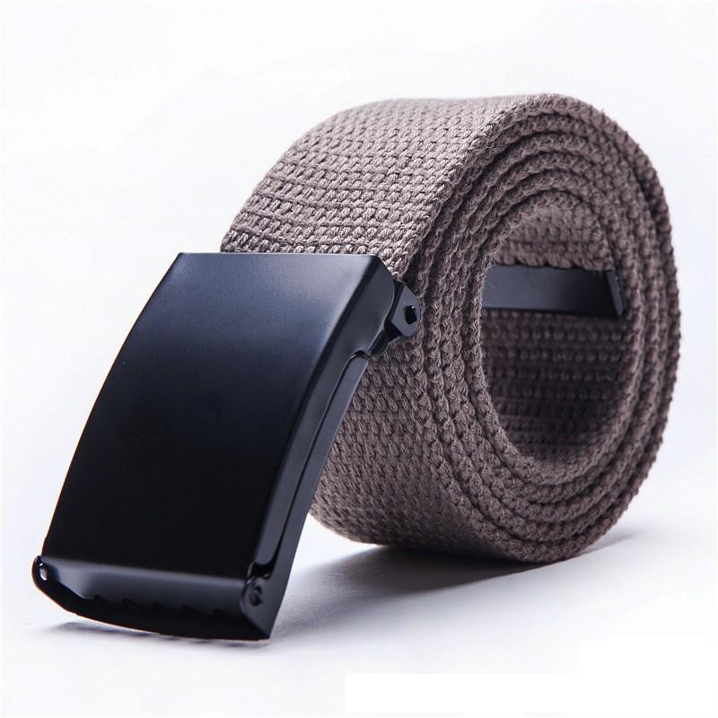Thắt lưng vải bố khóa bằng kim loại FA2S121 (Nâu)