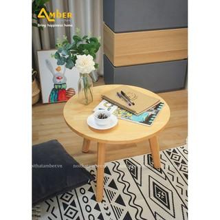 Bàn sofa - bàn trà tròn gỗ size (L) - Nội thất AMBER