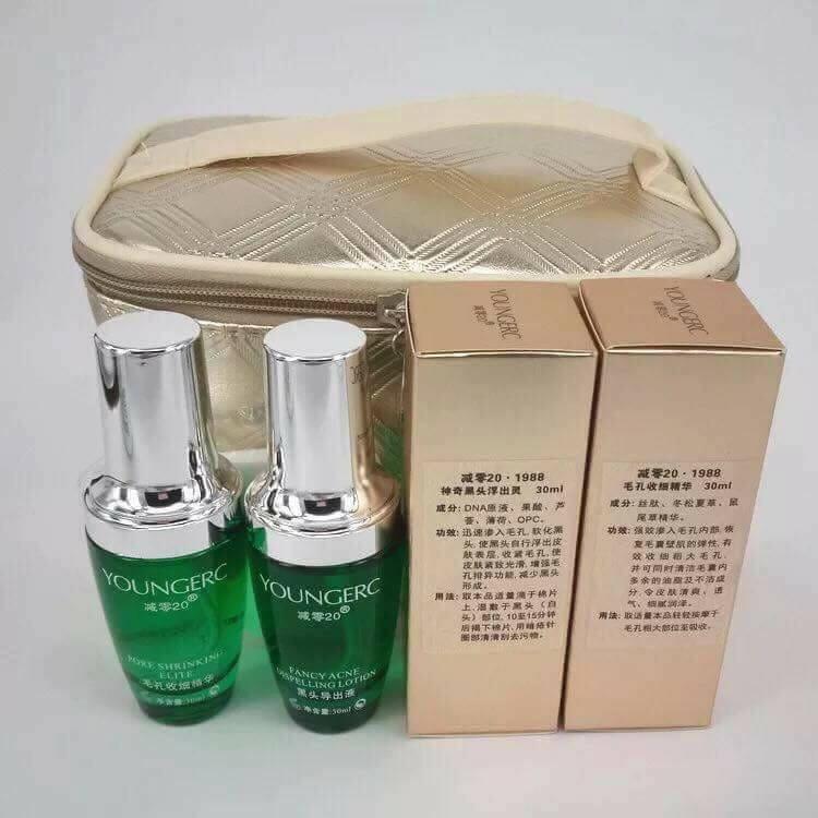 Serum ủ mụn Youngerc loại bỏ mụn cám, mụn đầu đen, dưỡng da trắng mịn, se lỗ chân lông - Hàng Đài Loan