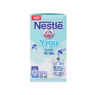 Hình ảnh [Mã GRO1NEST07 giảm 15% đơn 150K] Lốc 4 hộp sữa chua uống Nestlé Yogu có chứa tổ yến 115ml/hộp-1