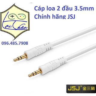 [Mã ELORDER5 giảm 10k đơn 20k] Cáp loa 2 đầu 3.5 mm Chiều dài 1.8M JSJ cao cấp lõi đồng
