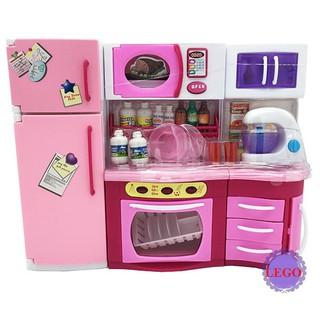 Bộ đồ chơi nhà bếp, tủ lạnh pin cực xinh