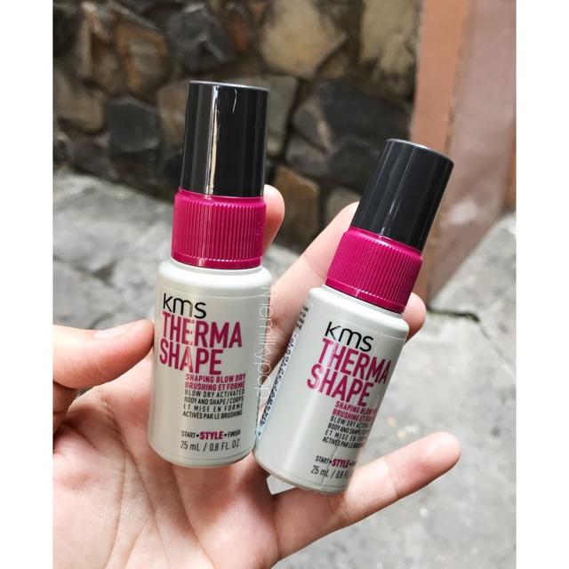 Xịt dưỡng phồng tóc KMS Therma Shape Blow Dry Spray (25ml)