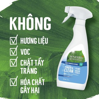 (60k duy nhất hnay) Nước lau đa năng gốc thực vật Seventh Generation Free & Clear không mùi 475mL thumbnail