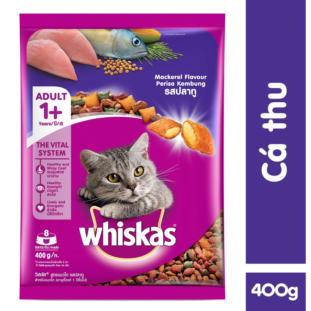 Thức ăn cho mèo Whiskas vị cá thu túi 400gr