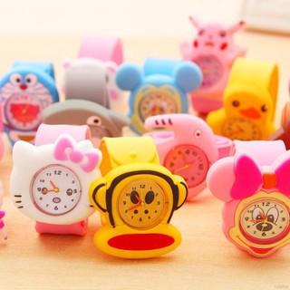 Đồng hồ cơ hình hoạt hình màu sắc kẹo đáng yêu