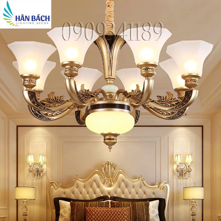 Đèn chùm phòng khách,đèn chùm cổ điển,đèn chùm kiểu dáng châu âu