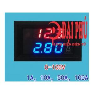 Đồng hồ đo điện áp và dòng điện DC 0-100V/100A + điện trở shunt