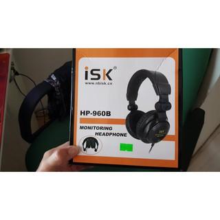Tai Nghe Kiểm Âm Cao Cấp Chuẩn Phòng Thu ISK HP960B FULL BOX tặng kèm jack