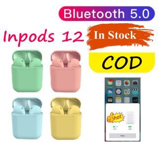 Tai nghe Bluetooth 5.0 i12s Inpods 12 TWS âm thanh stereo màu sắc bánh Macaron dễ thương