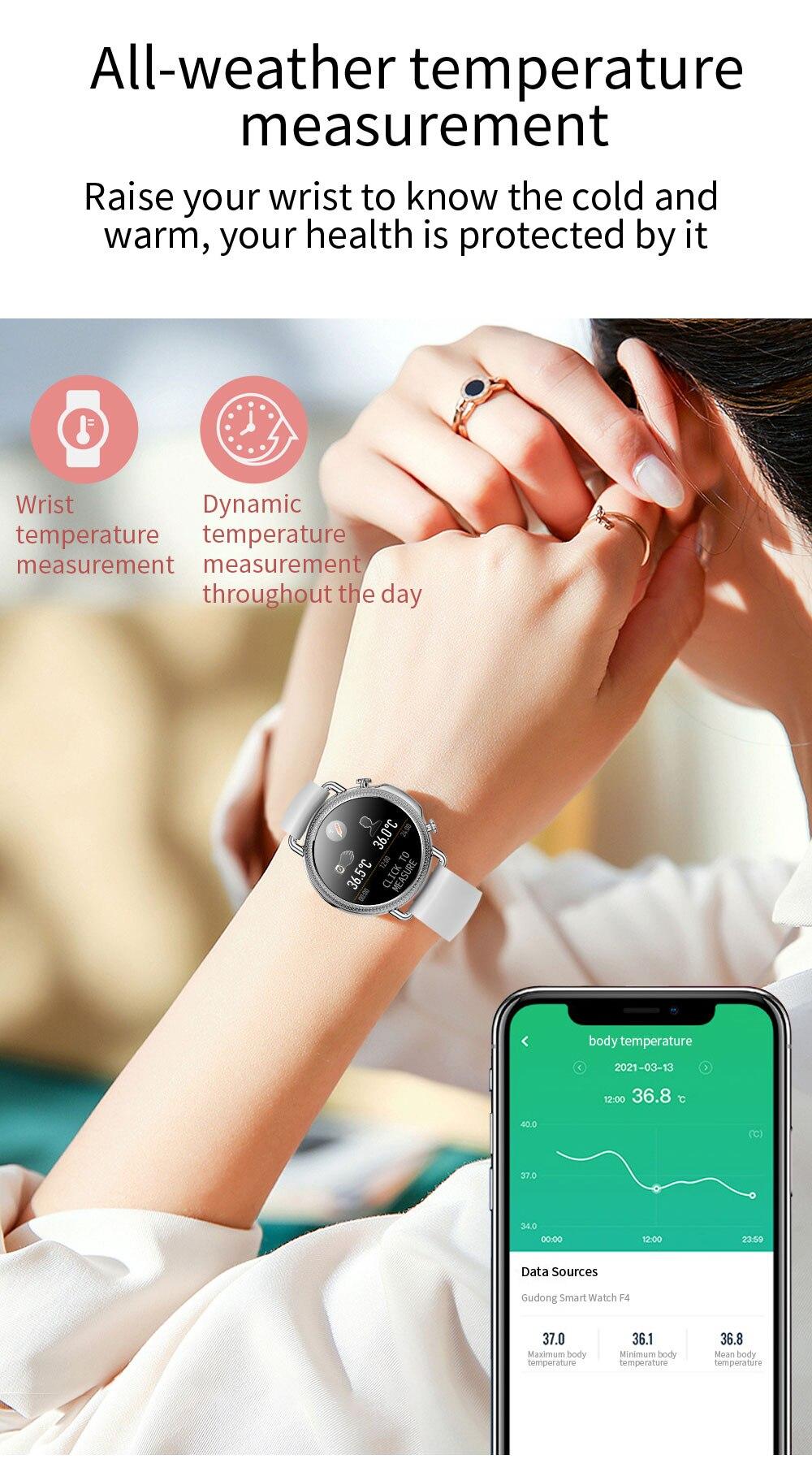 Đồng Hồ Thông Minh V25 Chống Nước Ip67 Theo Dõi Huyết Áp Cho Android Ios