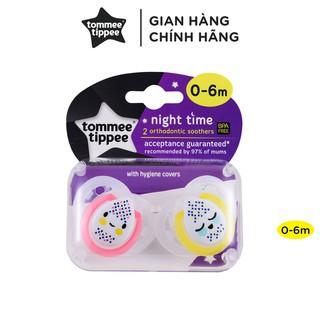 Ty ngậm dạ quang cho bé Tommee Tippee 0-6 tháng (vỉ 2 cái) - Night Time - Hồng thumbnail