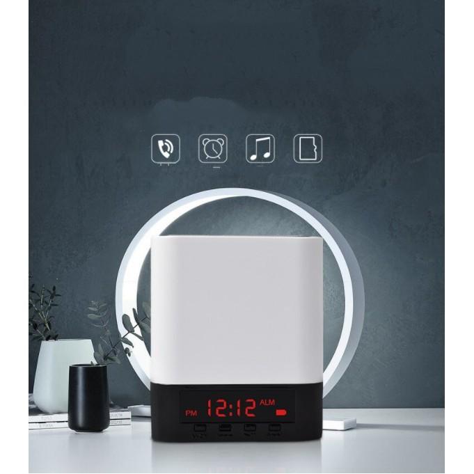 Đồng hồ báo thức kết hợp loa bluetooth, Radio FM có màn hình Led - Home and Garden