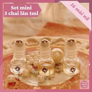 Set mini tinh dầu nước hoa | Nước hoa Bòu