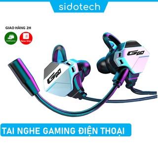 Tai nghe gaming có mic cho điện thoại SIDOTECH G11 chuyên chơi game PUBG mobile FF ROS Tốc chiến mic rời 360 thumbnail