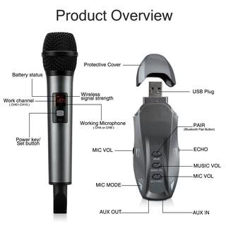 Micro Không Dây Có Echo Karaoke K18V, Dùng Cho OTO, Loa Bluetooth