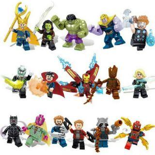 Minifigures Các Nhân Vật heroes Assemble Siêu Anh Hùng