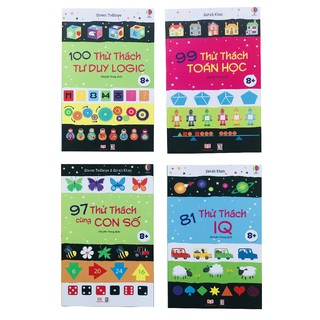 Sách: Phát triển tư duy cho bé - IQ (Bộ 4 cuốn, từ 6 -13 tuổi )