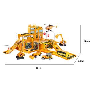 Đồ chơi lắp ráp xây dựng Trạm đỗ xe công trường xây dựng Six-six-zero-A66