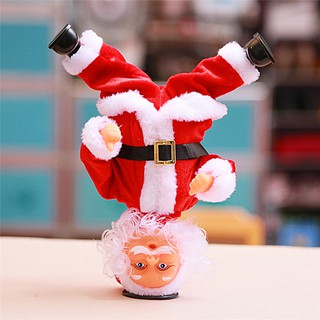 Handstand Dancing Santa Claus Doll Electric Music Toy Christmas Gift Decor