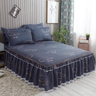 Bộ bốn mảnh cotton cotton giường Váy Mùa Hè giường đơn đơn Khăn trải giường Bộ ba Bộ 4 Mảnh giường thumbnail