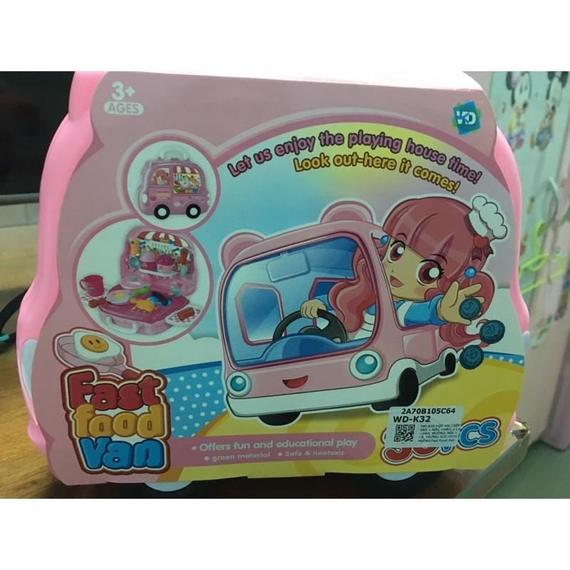 Hộp vali bếp bé gái màu hồng WD-K32