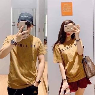 Áo thun cặp nam nữ màu vàng couple