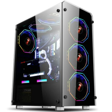 Vỏ Case RuBik II ( Thùng Máy Tính ) Sự kết hợp hoàn hảo với Fan RGB 366 hiệu ứng