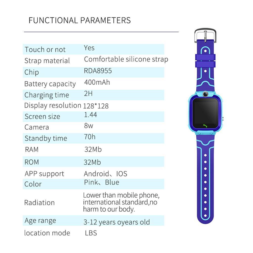 Đồng hồ thông minh S12 chống nước IP67 theo dõi sức khỏe cho trẻ em