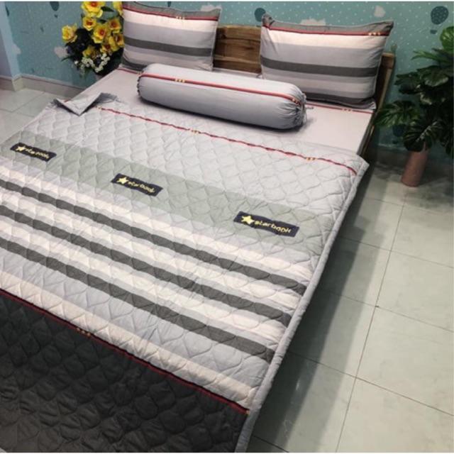 Bộ chăn drap vải cotton Hàn Quốc