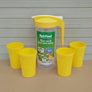Bộ 1 bình và 4 ly nhựa Nuti