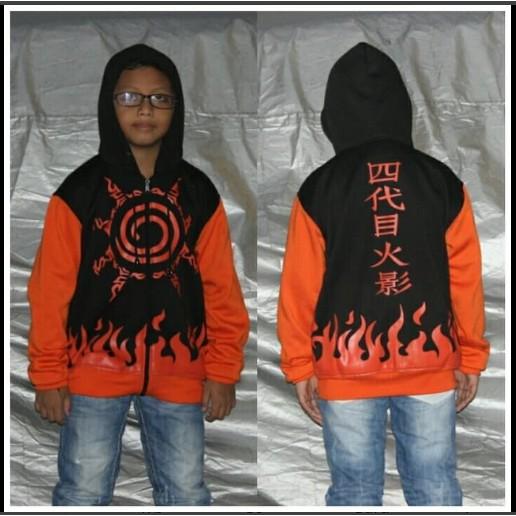 Áo Khoác In Hình Naruto Kyubi Aa229 Cho Bé