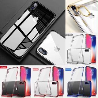 Ốp viền màu silicon apple case 5/5s/6/6s/6plus/7plus/8plus/X