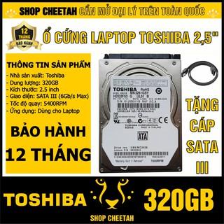 """HDD 2.5"""" Toshiba 320GB – Ổ cứng Laptop chính hãng – Bảo hành 12 tháng – Mới 99% – Tháo từ máy nhập khẩu"""