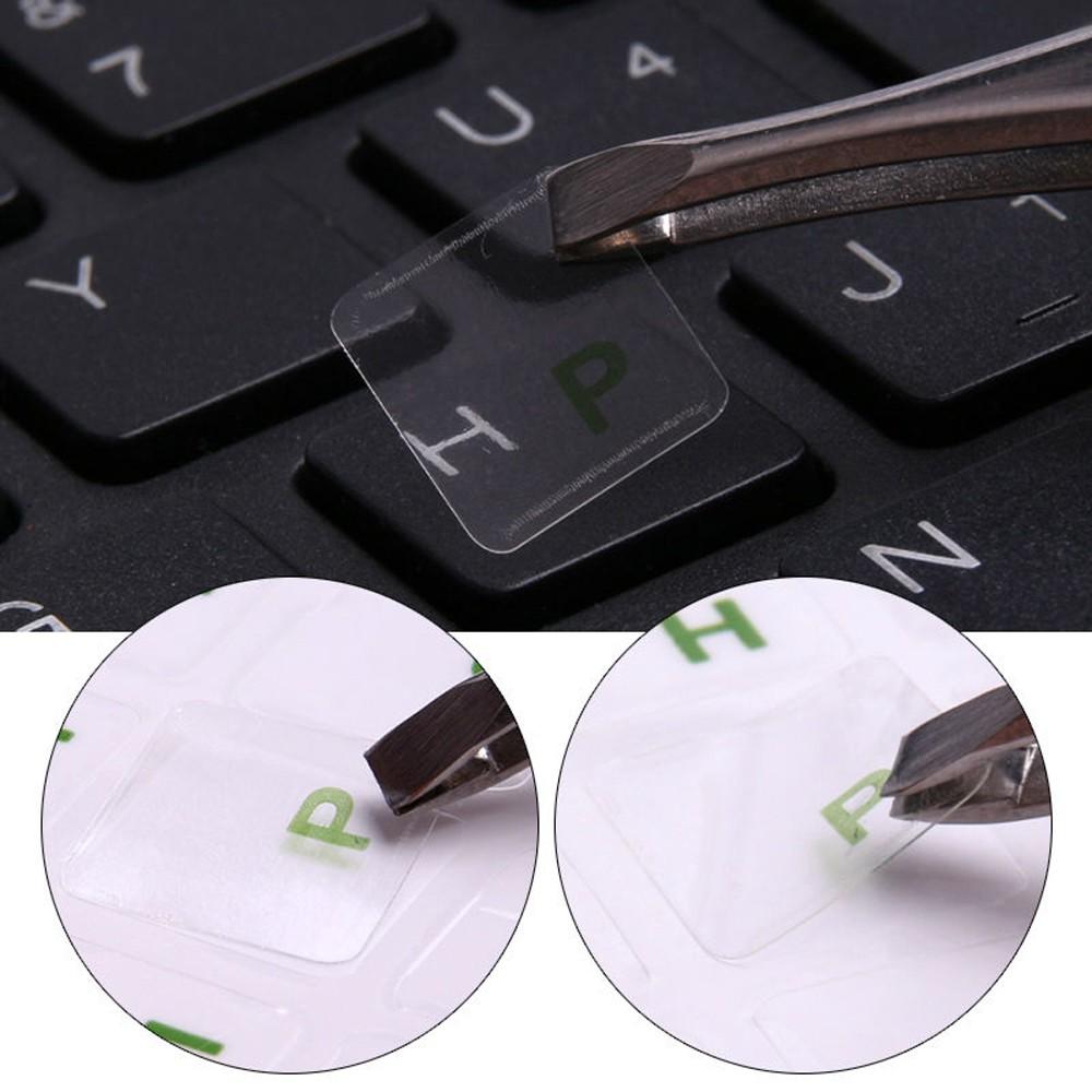 Miếng Dán Bàn Phím Laptop Bằng Pvc Trong Suốt Chống Nước In Chữ Nhiều Màu