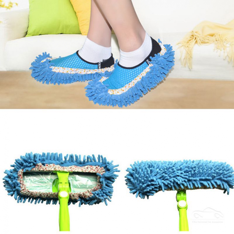 Una Mop Slipper Lazy Quick House Polishing Floor Dusting Cleaning Foot Socks Shoes