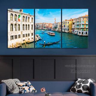 Tranh Treo Tường Khung Gỗ Hình Thành Phố Venice
