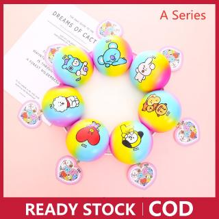 COD BT21 Jumbo Squishy 10cm Buns Soft and Slow Rising Scented Toy with Licened Tag Ballchain