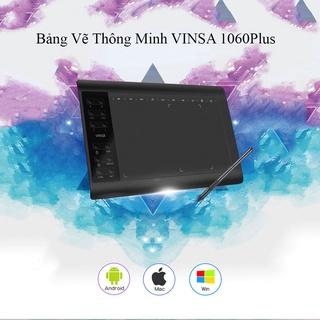 Máy tính bảng vẽ đồ họa Vinsa 1060plus chuyên nghiệp 10x6 inch 12+10 phím tắt thiết kế sang trọng thumbnail