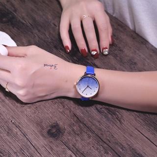 Đồng hồ nữ Doukou dây da mặt kim tuyến chuyển màu cực đẹp thumbnail