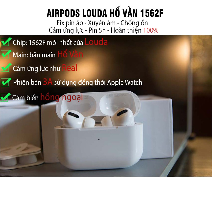 Tai Nghe Bluetooth Airpods Pro Louda 1562F Hổ Vằn Pin 5 tiếng