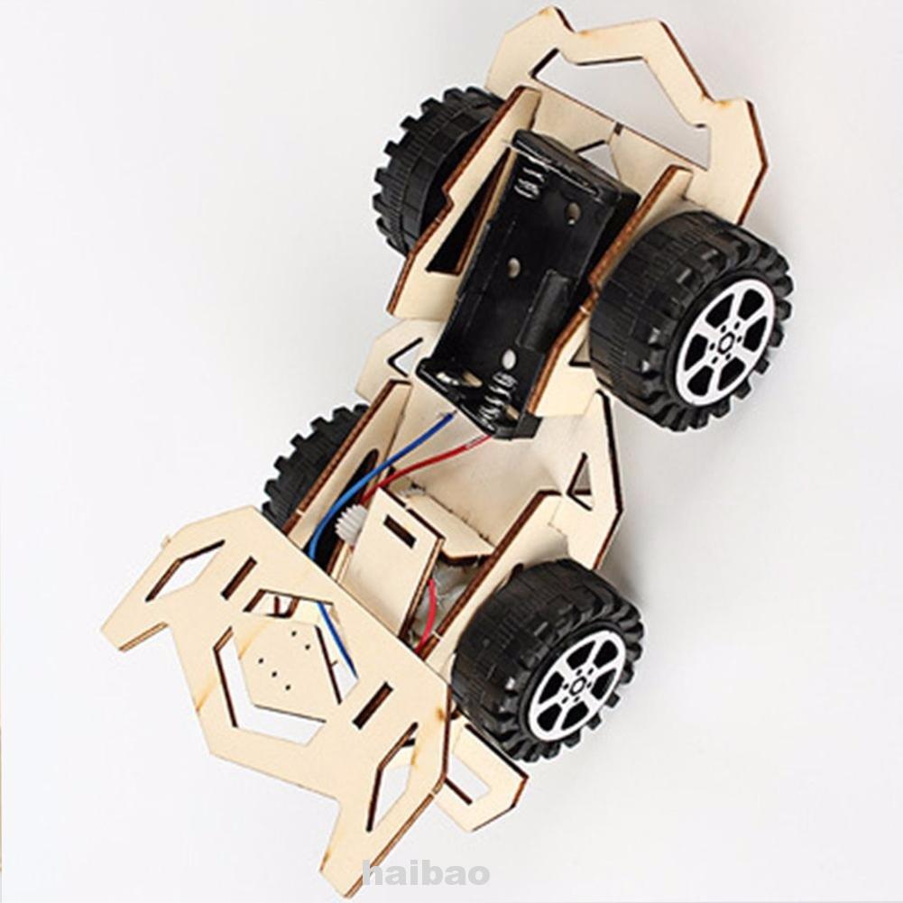 Developmental Educational Racing Car Scientific Wooden Model Kit