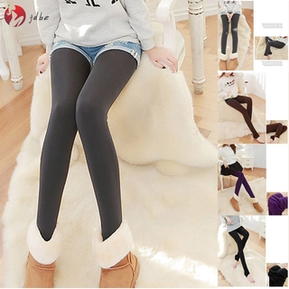 ✿JDBE✿ Warm Fleece Pantyhose Women Soft Leggings Fleece Lined Pants Leggings Thick Yoga Pants