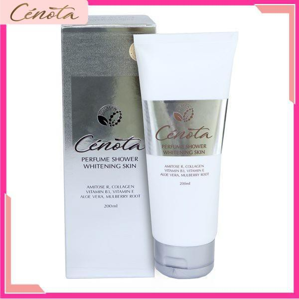 Sữa tắm trắng da hương nước hoa, sữa tắm trắng da Cenota Perfume Shower Whitening Skin 200ml mã CN11