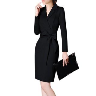 Women Bodycon Dress Lapel Office Lady Elegant Slim Fit Party Sexy Dresses