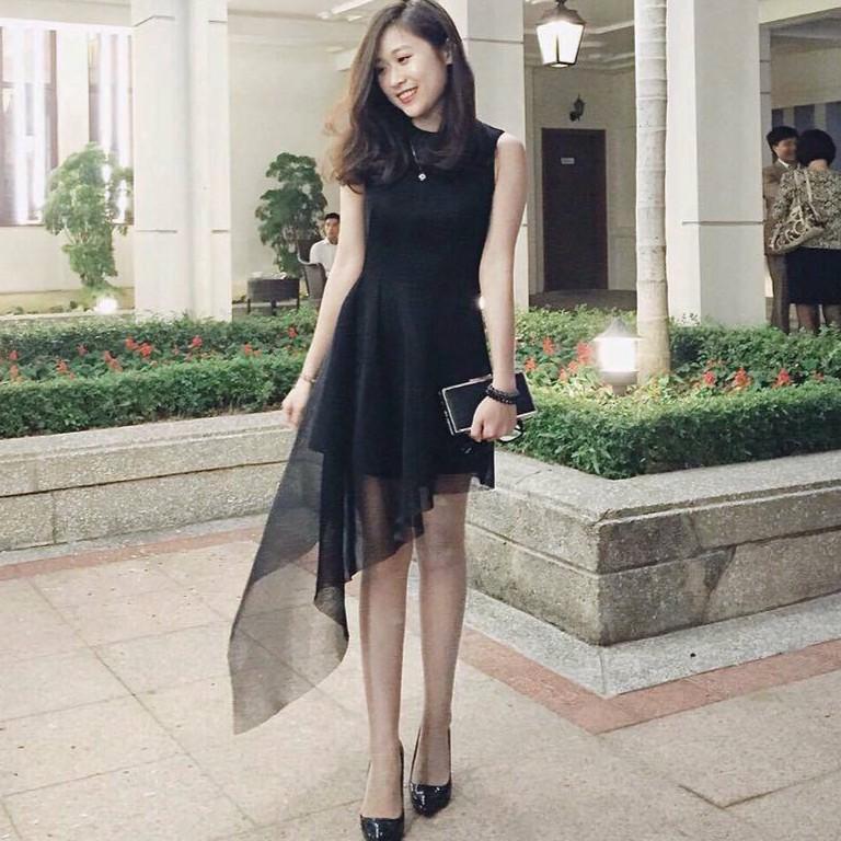 Đầm dự tiệc vạt lưới Style Dress