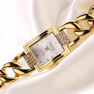 Đồng hồ đeo tay xi mạ vàng sang trọng cho nữ